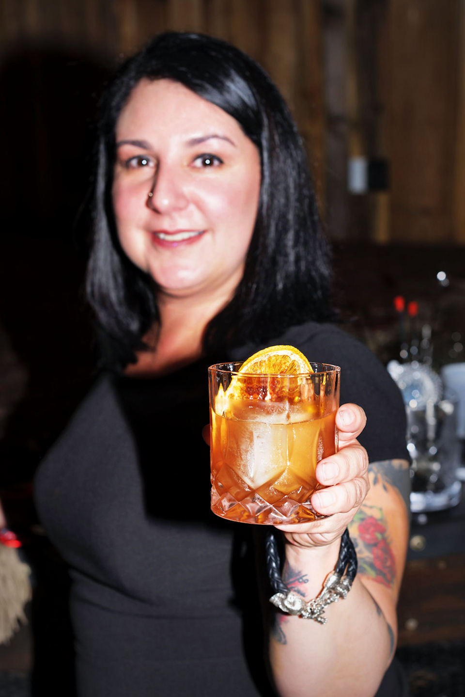 Photo of Ayme Harrison & her Old Fashioned