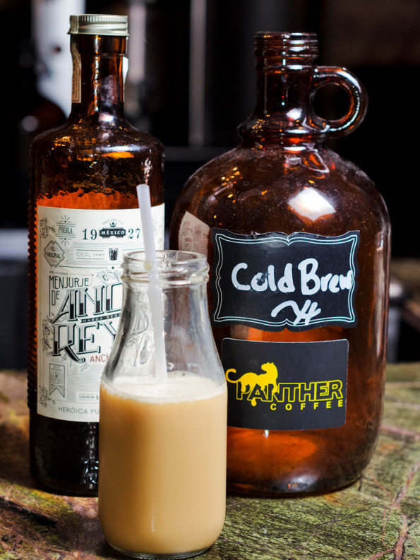 Picture of a Panther Cold Brew Infused with Ancho Reyes