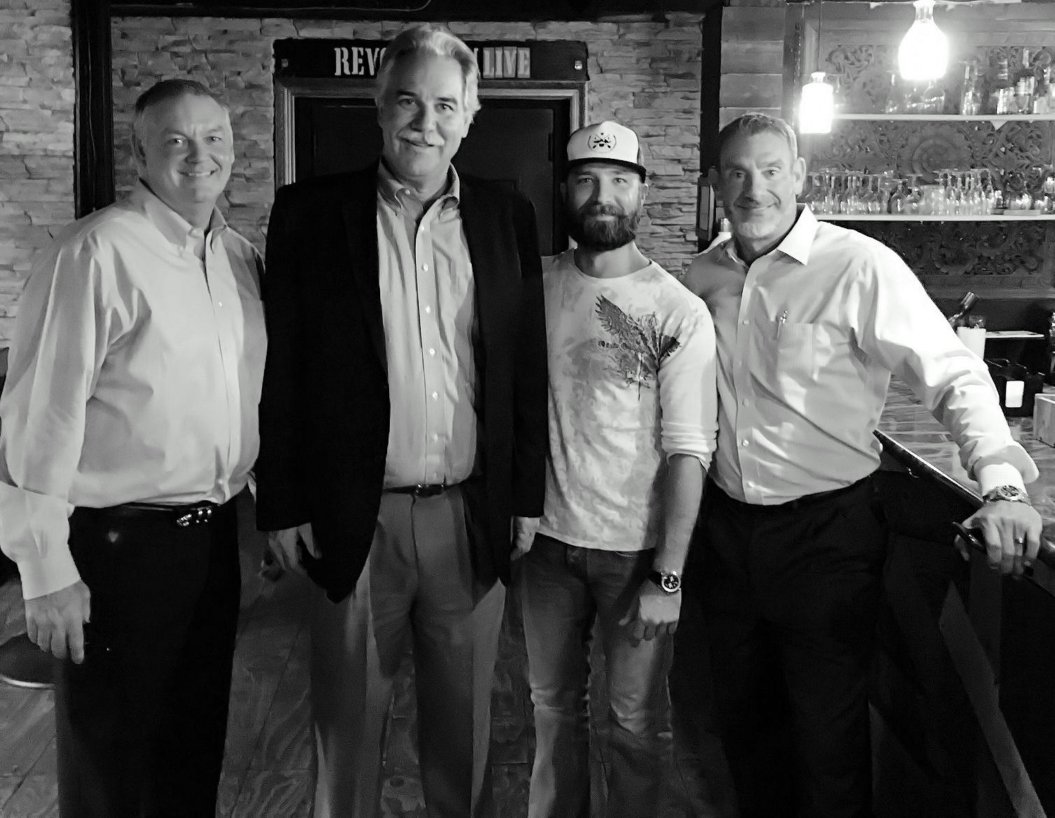 Picture of Tom Mass and Team with Bill Binder, Stache Bartender