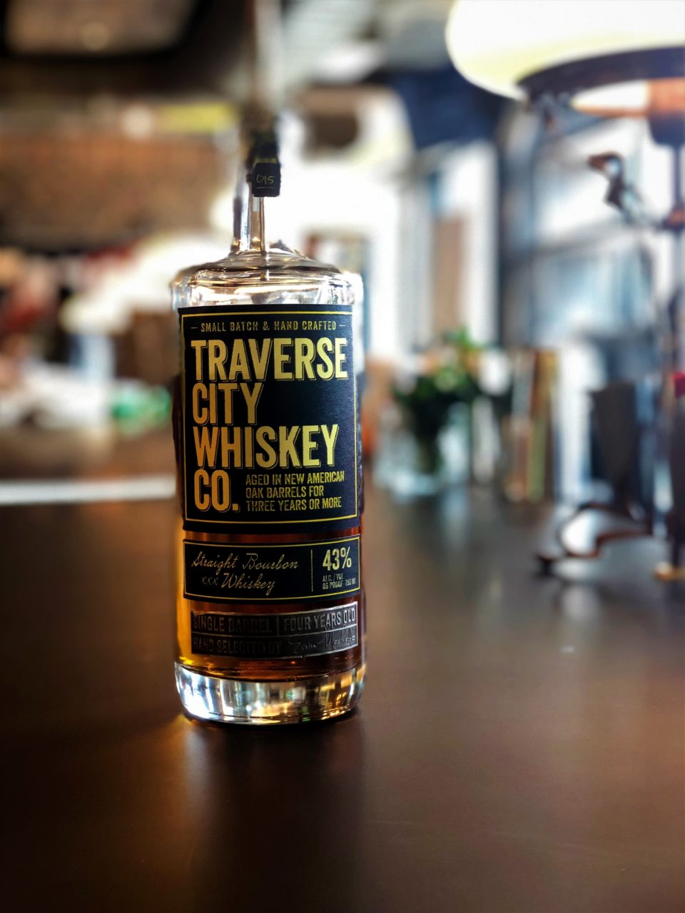 Bottle of Traverse City Whiskey