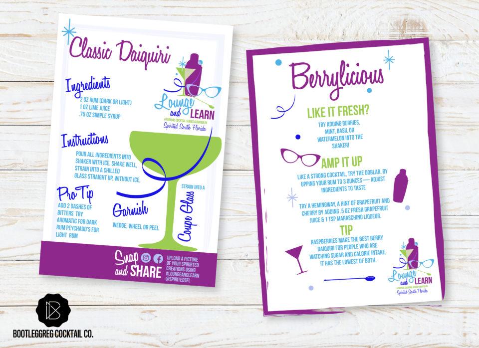 Recipe card for the Daiquiri